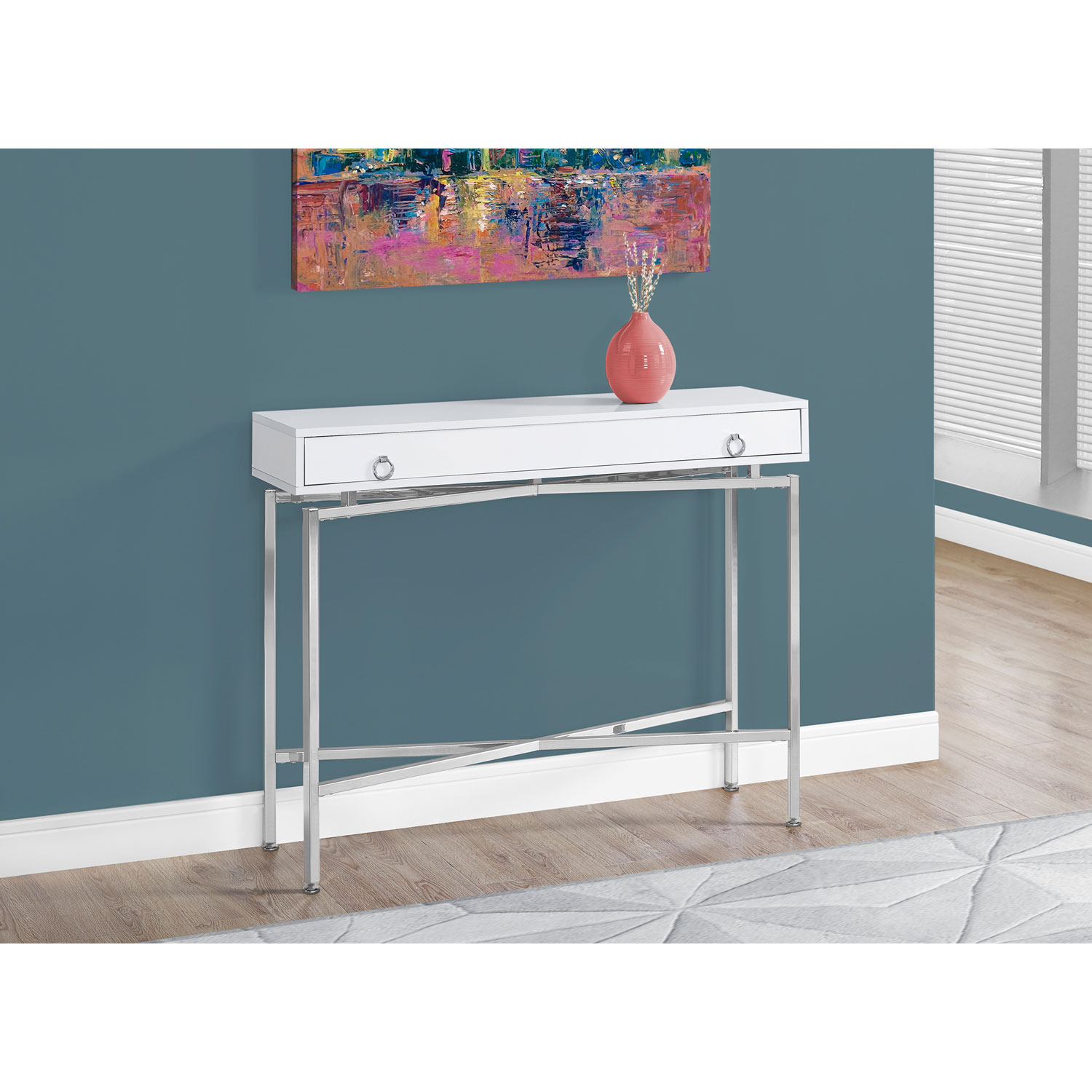 hawthorne ave accent table glossy white chrome hall console glass top bronze hover zoom pottery barn art teal blue coffee folding wood cordless floor lamp rechargeable corner