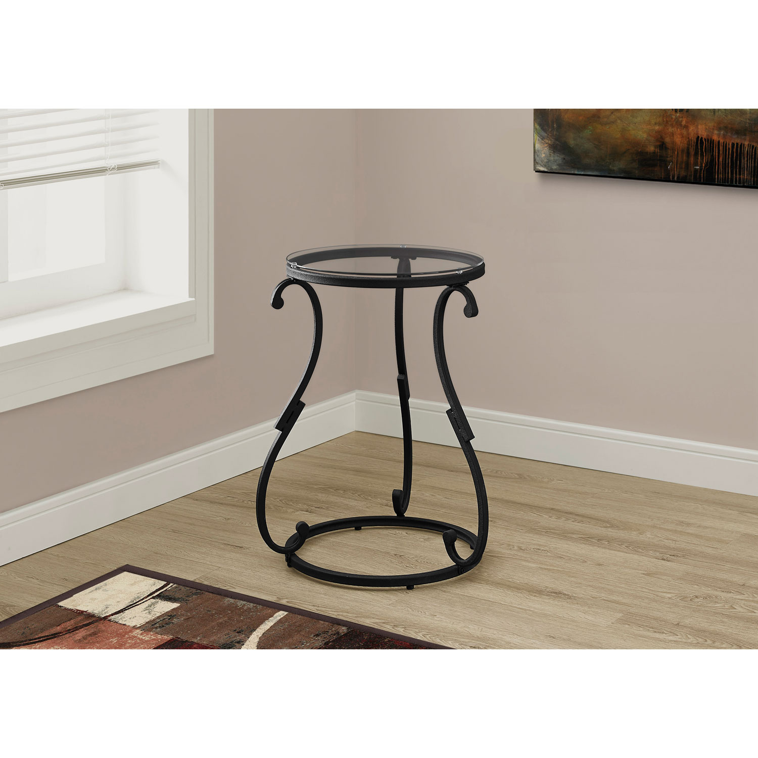 hawthorne ave accent table hammered black metal with tempered glass hover zoom wood end tables gaming round rugs ikea linen and tablecloth media console target white comforter