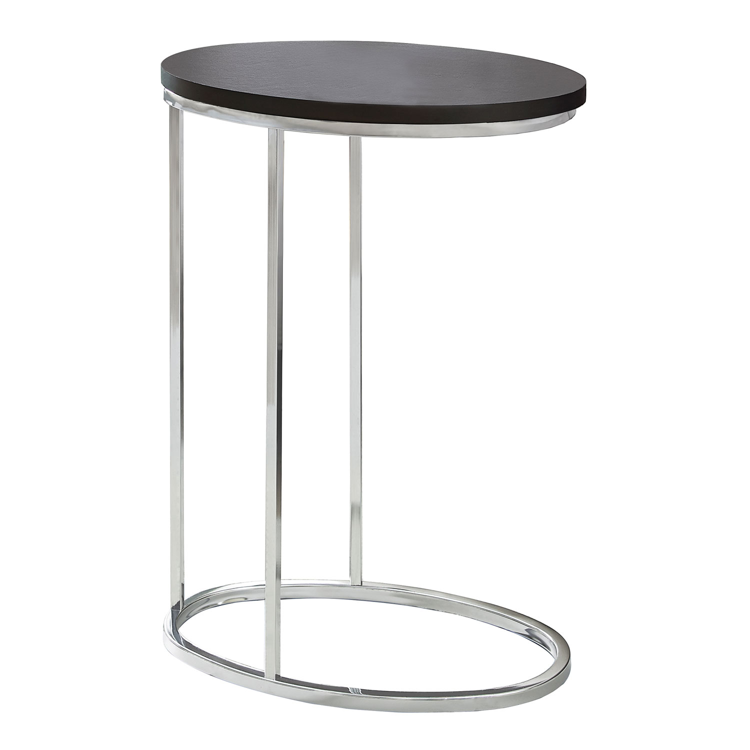 hawthorne ave accent table oval cappuccino with chrome metal glass top bronze hover zoom white wood small uttermost lamps inch wooden legs hairpin threshold fretwork industrial