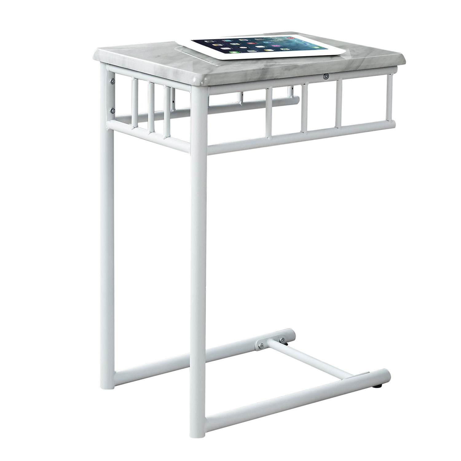 hawthorne ave accent table white marble metal bellacor glass top bronze hover zoom outdoor bbq inch wooden legs threshold fretwork nautical kitchen winsome wood end kirklands