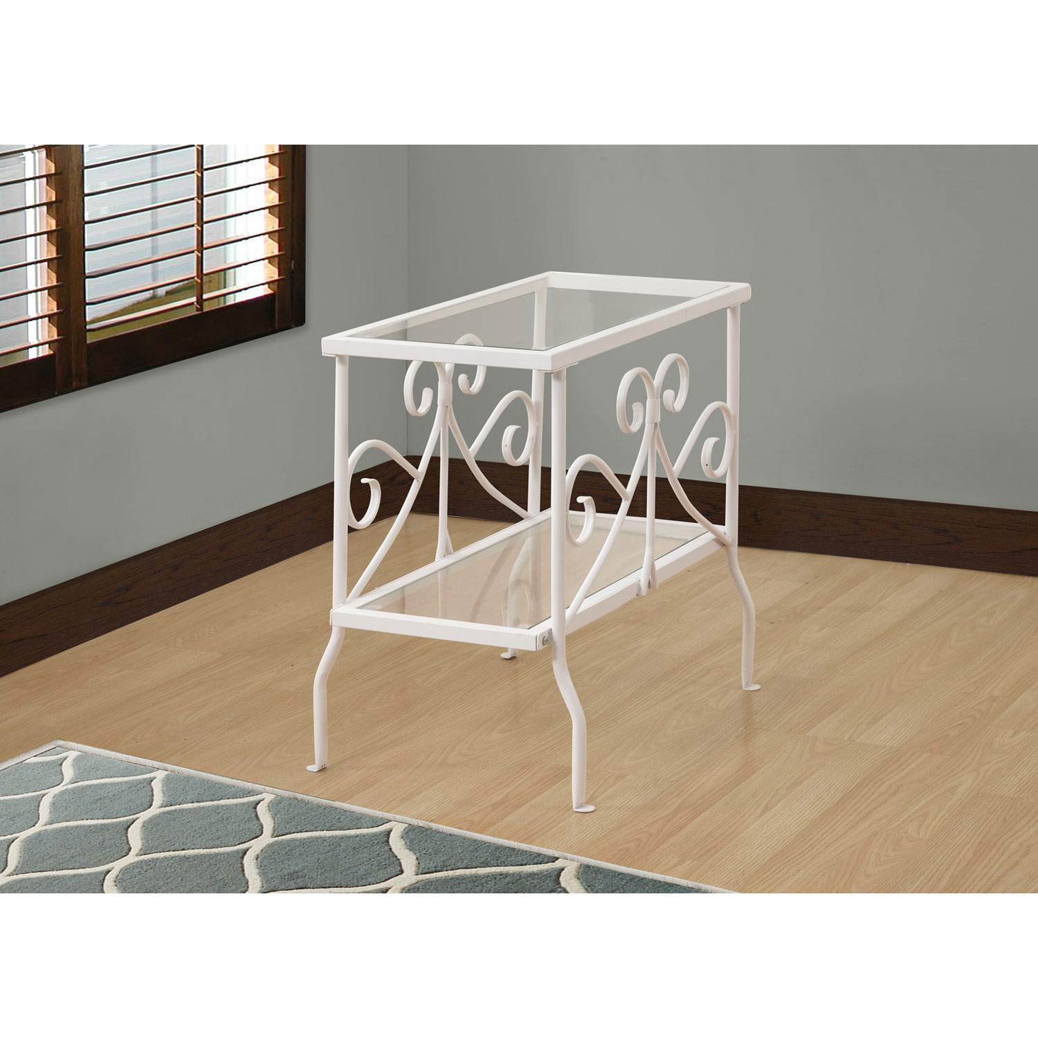 hawthorne ave accent table white metal with tempered glass top hover zoom furniture companies sea decor bar height patio light fixtures mid century replica target living room mint