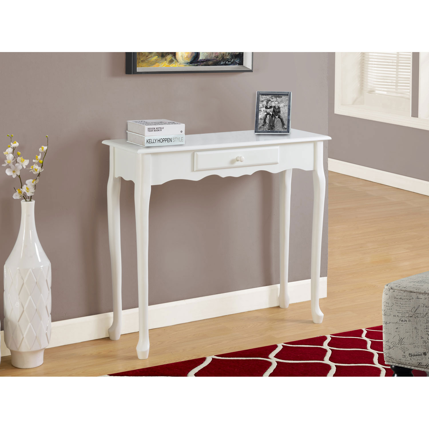 hawthorne ave antique white inch accent table bellacor summer outdoor clearance target threshold lamp teak rustic tablecloth console lamps small metal legs bar height patio glass