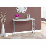 hawthorne ave console table grey cement with chrome metal glass top accent bronze hover zoom winsome wood end round industrial lamp base threshold fretwork brass cordless floor 150x150