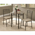 hawthorne ave dining set piece cappuccino marble bronze glass top accent table hover zoom pub folding wood coffee ball lamp distressed pottery barn art dorm room couch corner 150x150