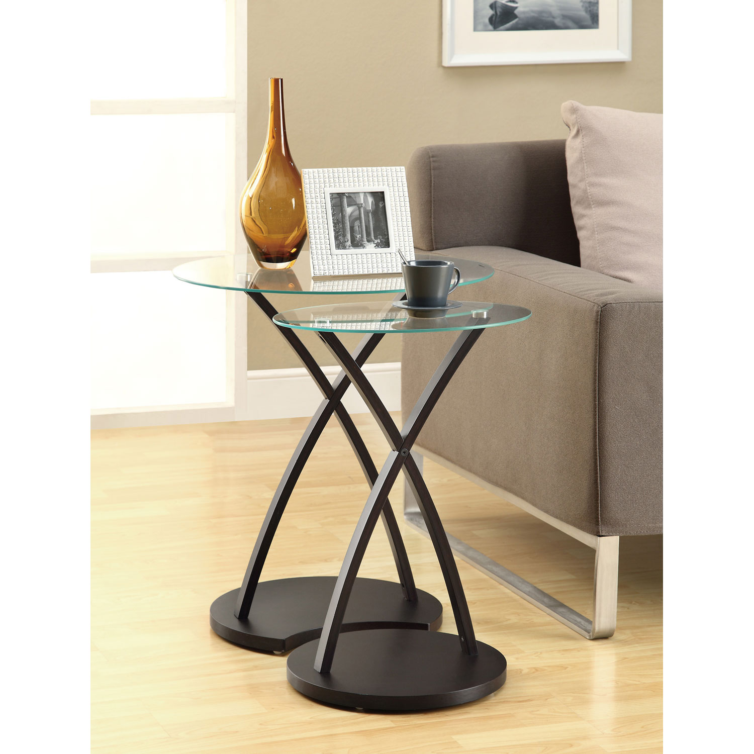 hawthorne ave nesting table piece set cappuccino bentwood glass top accent bronze hover zoom nautical kitchen high bistro modern contemporary end tables fall placemats and napkins