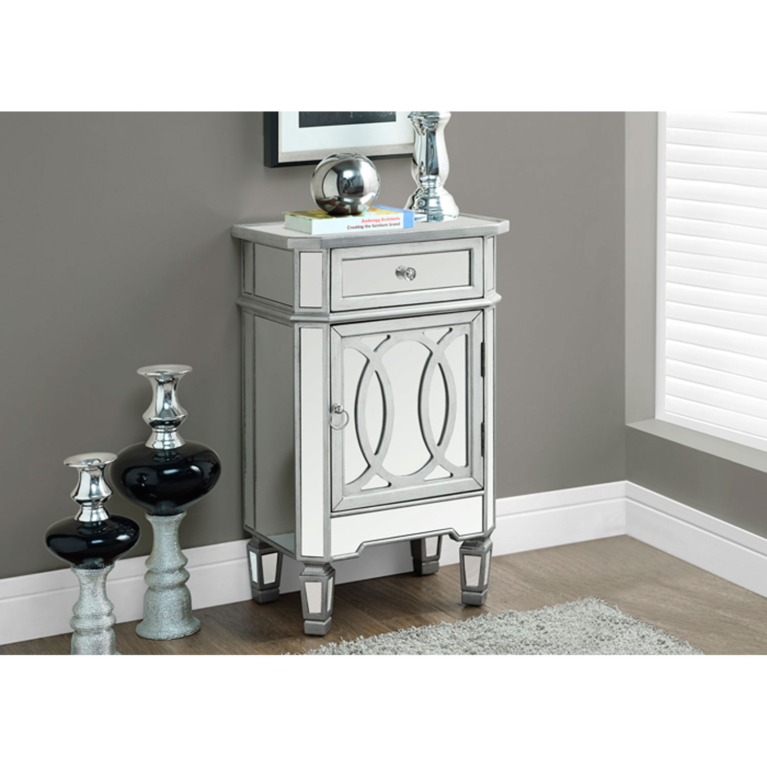 hawthorne ave silver inch accent table bellacor cabinet backyard gazebo wooden floorboards glass and marble round tablecloth small space living furniture designer tablecloths mini