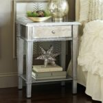 hayworth mirrored silver nightstand pier imports hollywood accent table collection small foyer furniture trunk coffee percussion box green mosaic set entryway console with storage 150x150