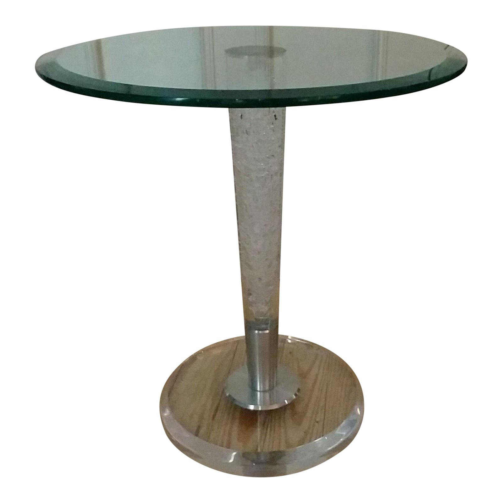 haziza studio glass acrylic accent table chairish and contemporary coffee tables with storage round oak end ashley furniture porcelain vase lamp room essentials lucite waterfall