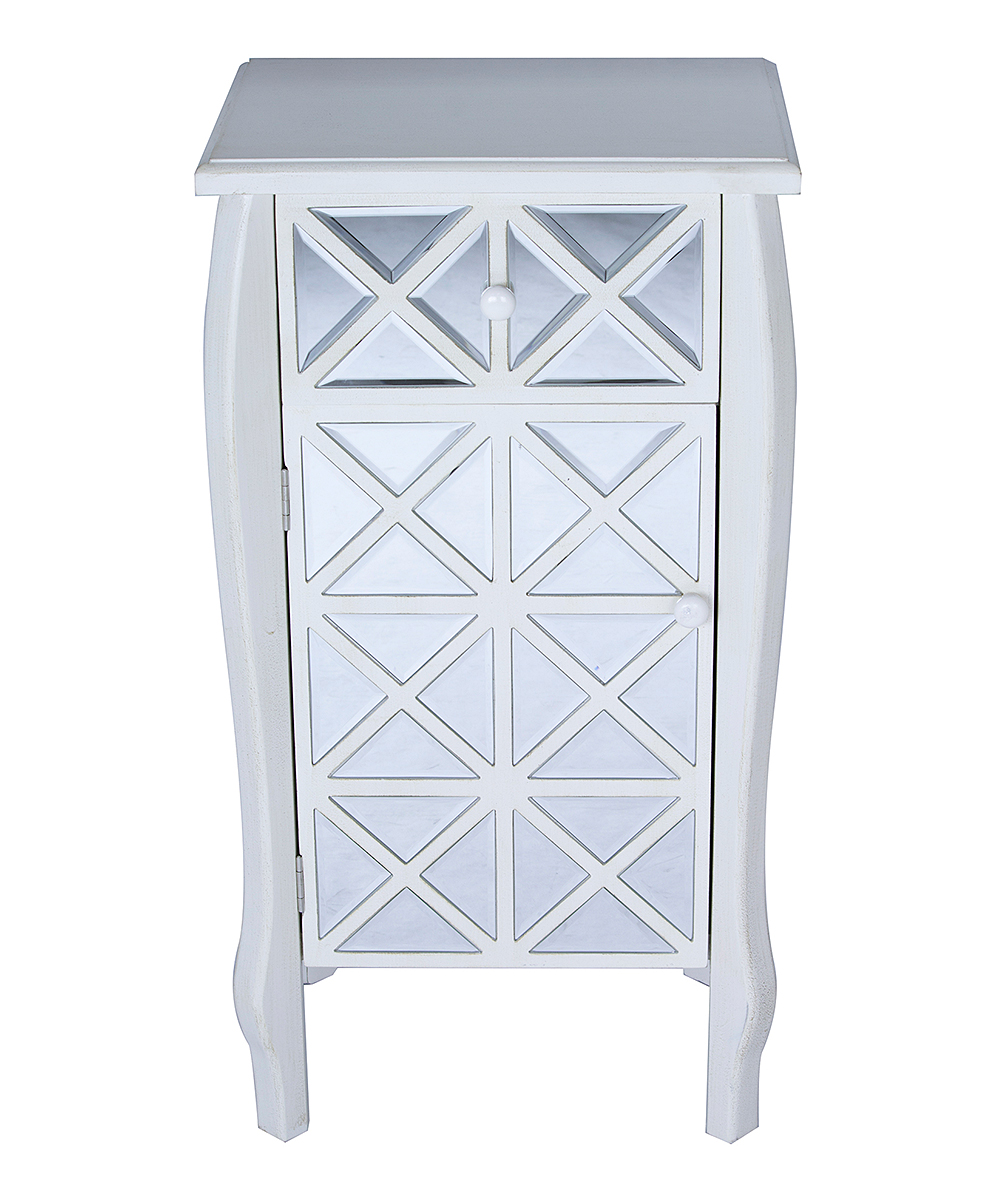 heather ann antique white lana accent cabinet zulily main table share small round wine outdoor glass top side pottery barn flooring ice box cooler cast aluminum end battery lamps