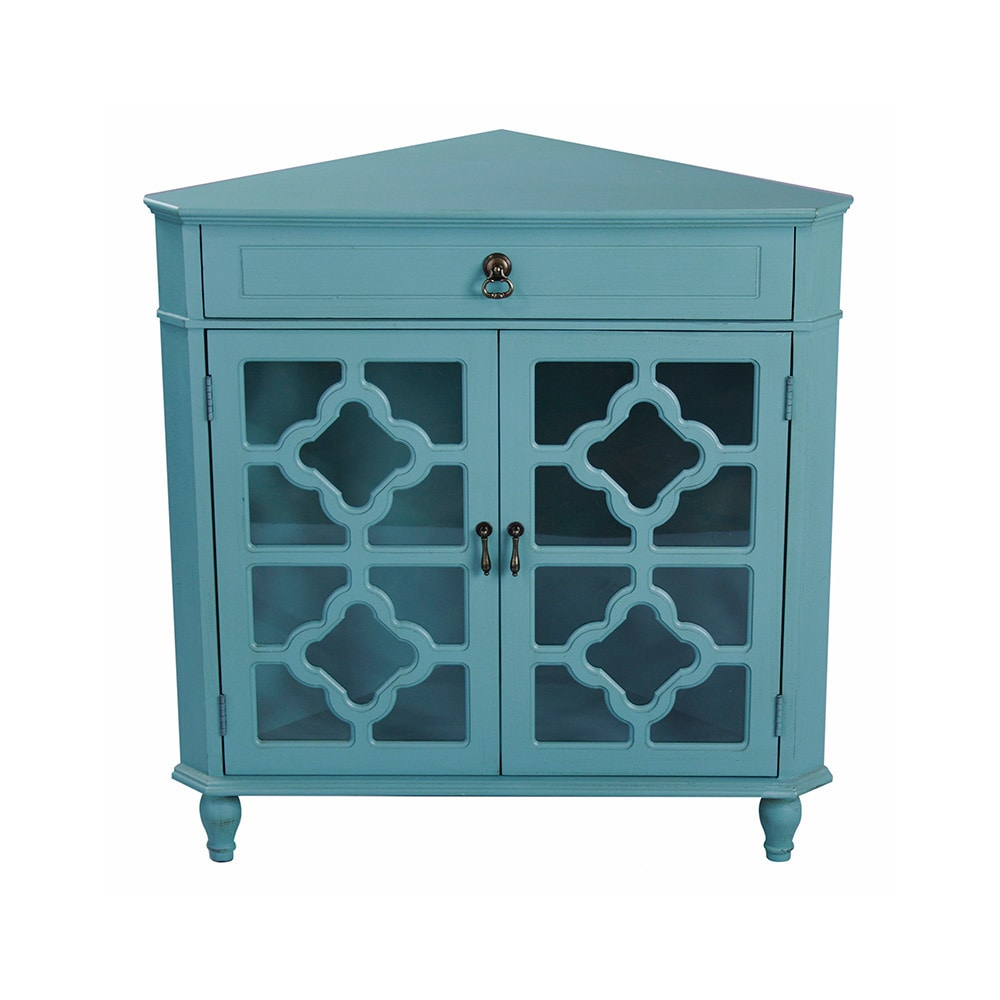heather ann heirloom style one drawer corner accent cabinet table with grey blue kohls clocks bedroom mirrors pottery barn frames handcrafted end tables couch covers kmart target