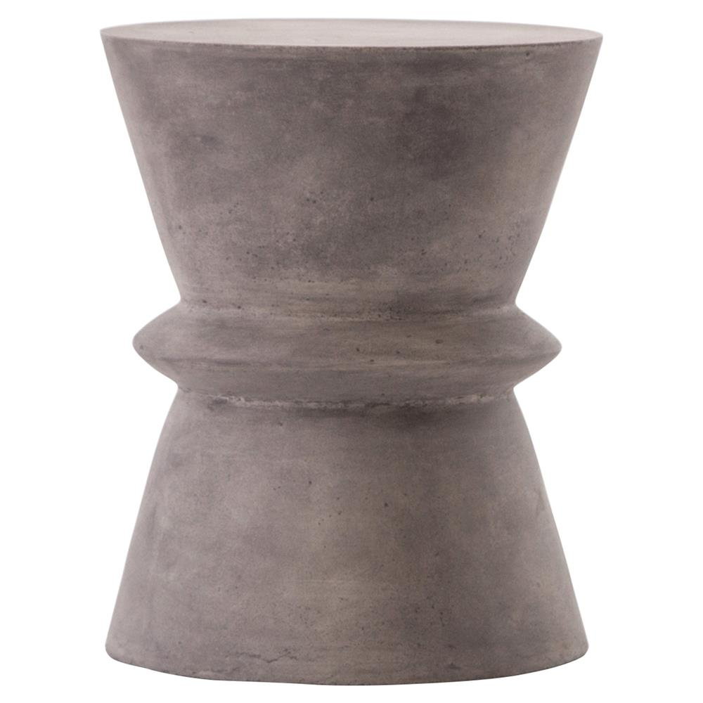 helio industrial loft grey concrete hourglass side table kathy kuo product accent threshold home piece dining set dale tiffany crystal globe lamp marble contact paper bar high