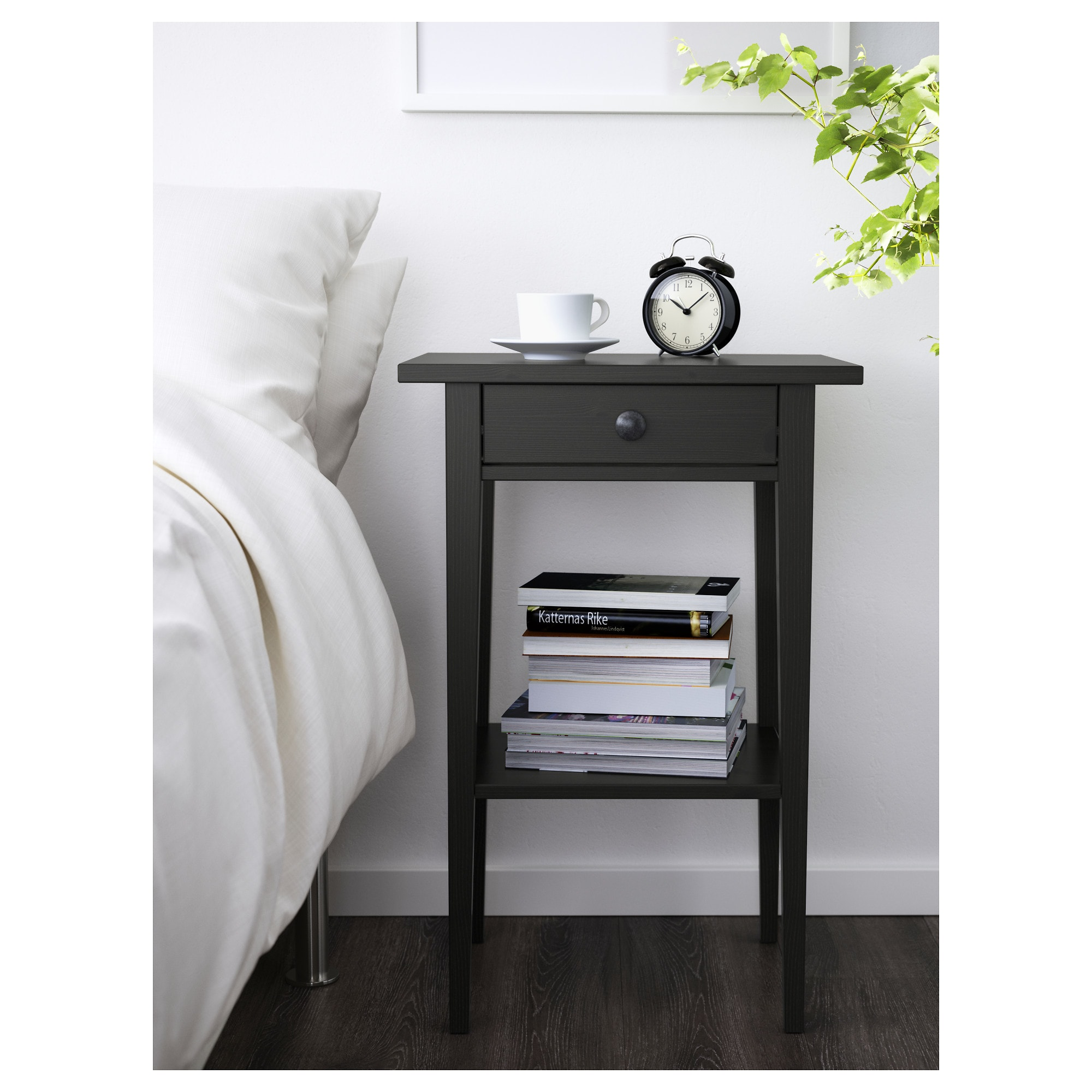 hemnes bedside table black brown ikea with regard bedroom side ideas timmy nightstand accent small round drawer west elm mattress marble dining room light blue white lamps mosaic