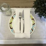 hemstitch placemat white inch set accent linens table mirror and glass eileen gray side wood end plans ikea small square wrought iron tables with tops high coffee dark storage 150x150