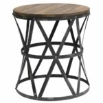 heraldine metal and wood end table accent furniture carmen mirrored side tables for bedroom large floor mirror black coffee sets behind sofa inch round small drop leaf fall vinyl 150x150