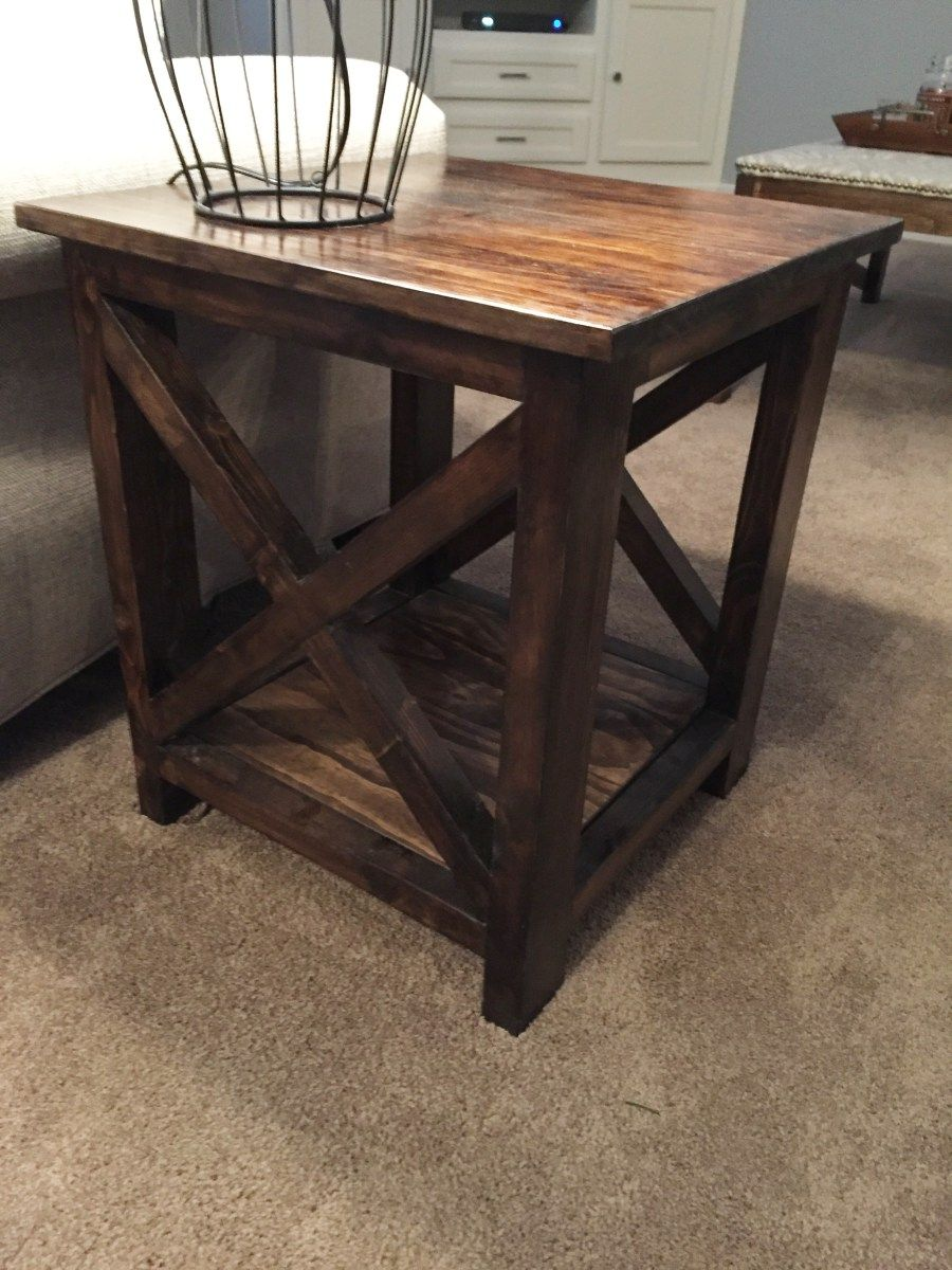 here idea for simple end tables that you can make yourself small pine accent table originally made two these temporary our living room few black aluminum outdoor coffee pier one