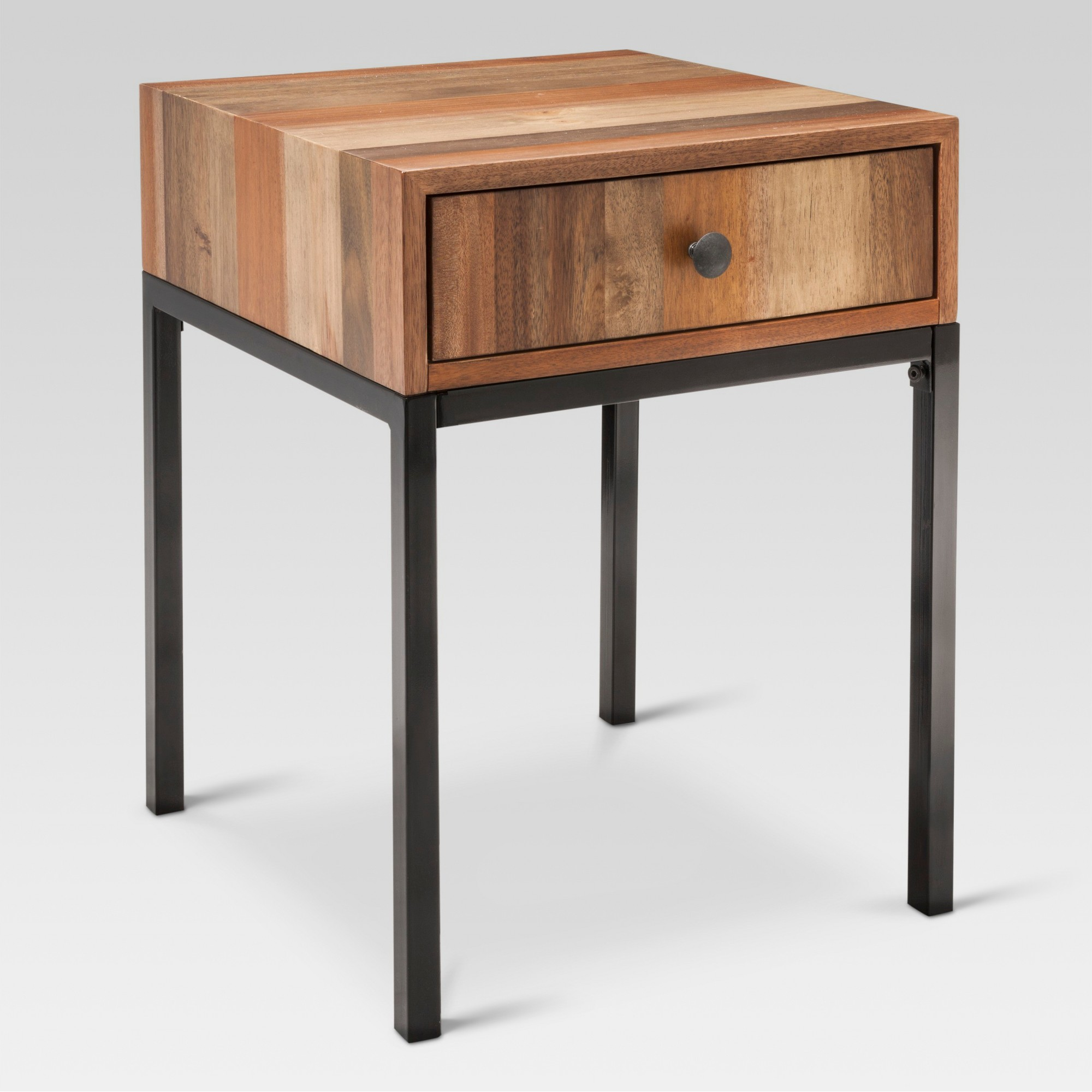 hernwood mixed material side table brown threshold products triller accent target amish made end tables modern drop leaf for small spaces concrete round and benches outdoor