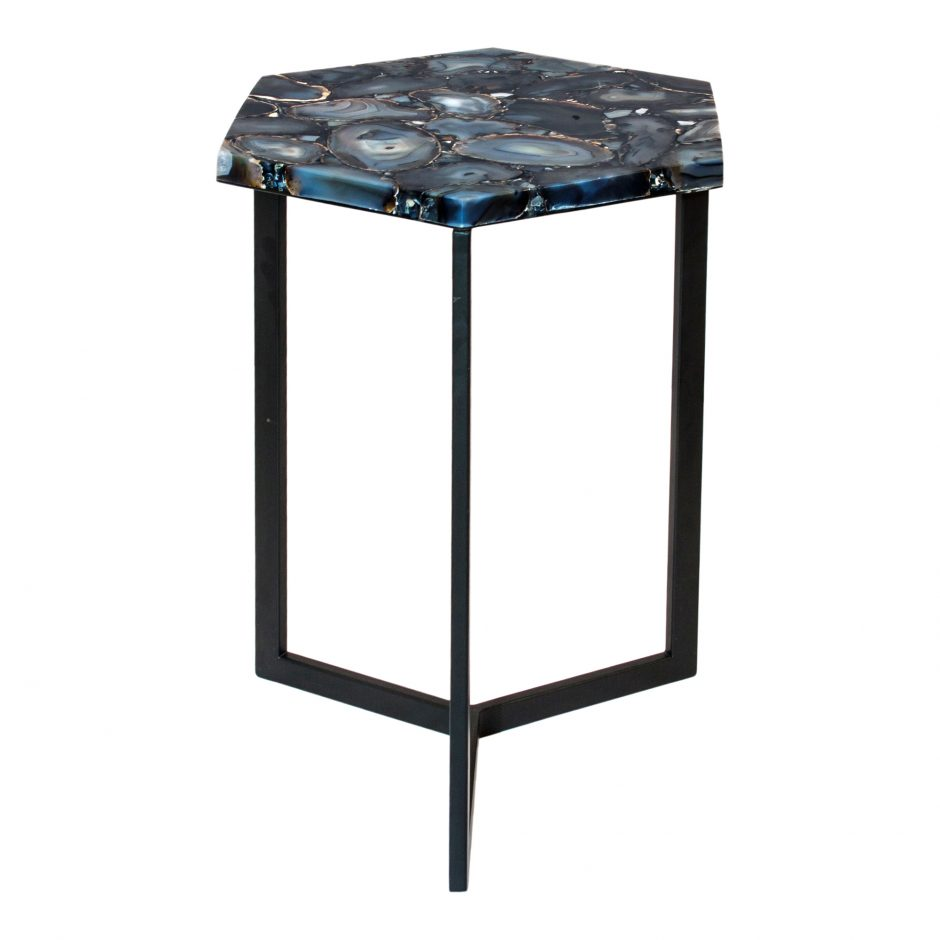 hexagon agate accent table products moe whole glass tables tablecloth for inch round jacket hoodie silver bedside lamps cordless living room decorations outdoor coffee bunnings