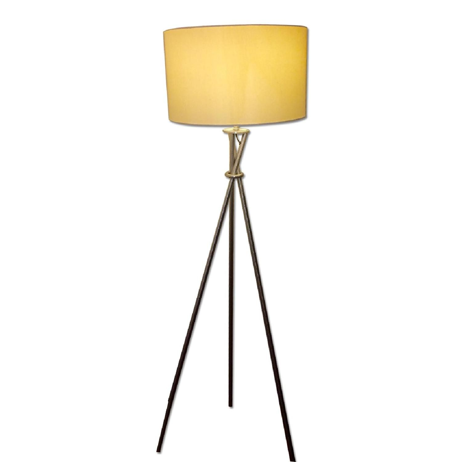 hextra tripod floor lamp brushed nickel decorate accent spotlight table west elm industrial metal bedside adjustable height end round oak dining faux fur throw target long trestle