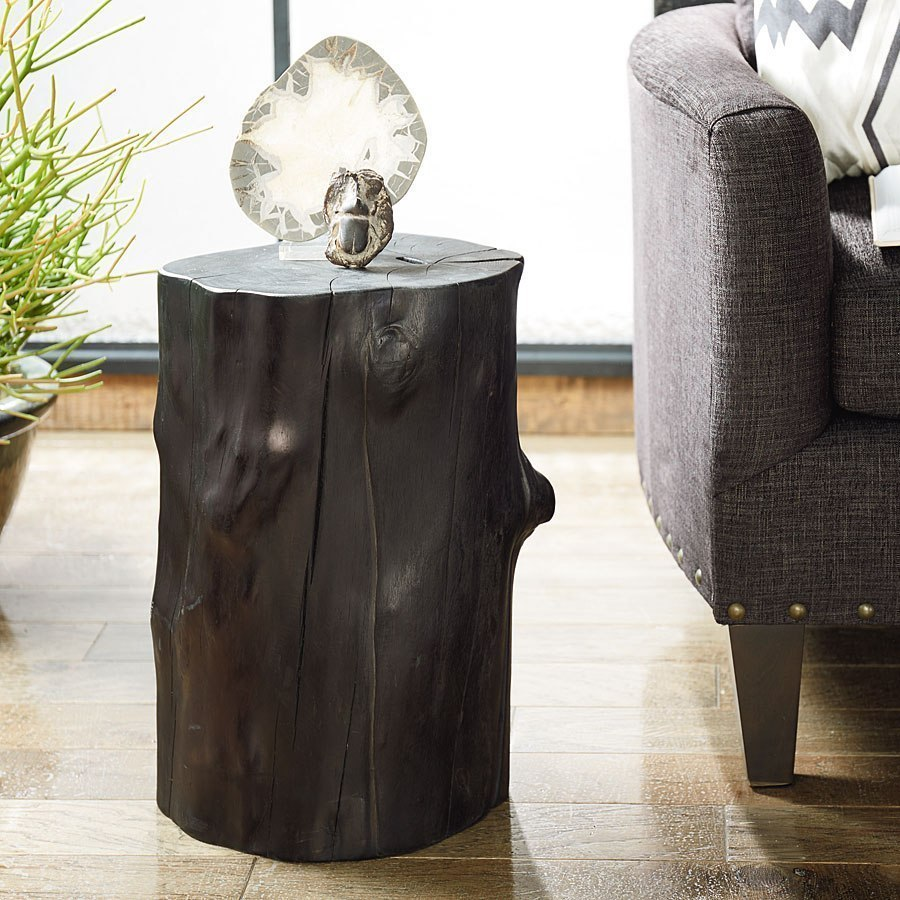 hidden treasures charred tree trunk accent table occasional and target threshold coffee wide bedside tables ikea accessories oak door contemporary home decor floating shelves