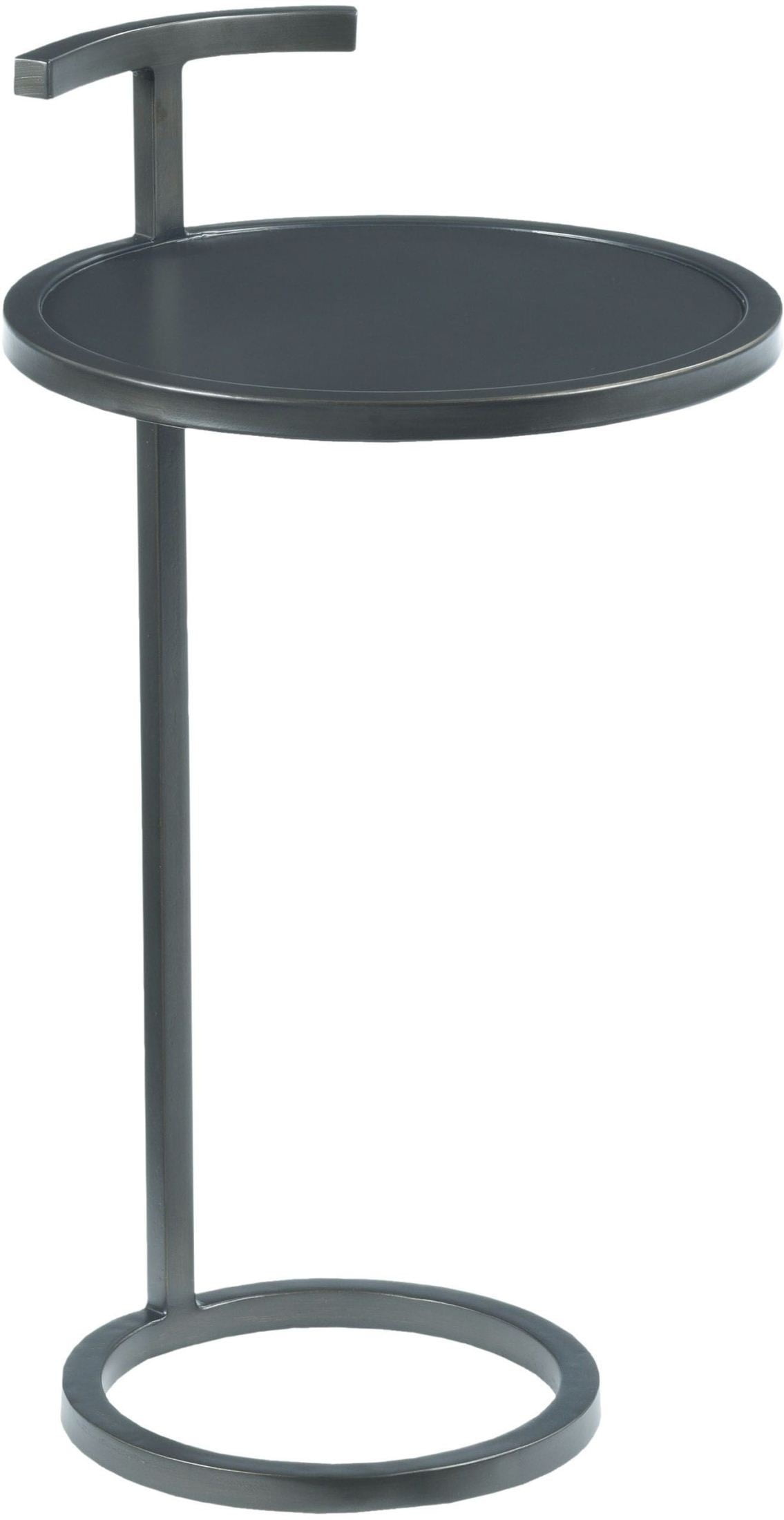 hidden treasures gray round accent table from hammary coleman cylinder drum hampton bay patio set rectangle end with drawer dining pedestal base only pottery barn kids coffee