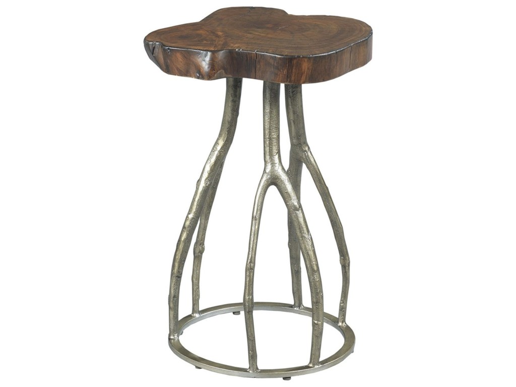 hidden treasures live edge twig table with metal base morris home products hammary color accent brown threshold treasureslive fold away coffee ikea marble desk large patio cover