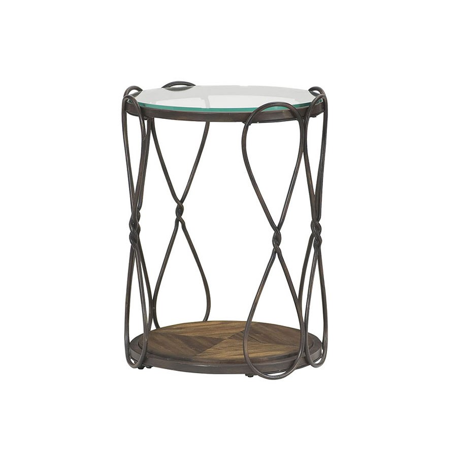 hidden treasures round end table antique bronze occasional and accent inch square tablecloth cherry mission wrought iron queen patio umbrella lights tall plant stand ikea bedroom