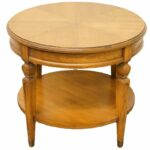 high end used furniture hekman bookmatched mahogany round accent table eames chair replica console desk with drawers recycled wood tier side bunnings trestle modern pedestal bar 150x150