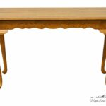 high end used furniture kincaid solid oak country french accent tables sofa table monarch specialities console retro desk small farmhouse and chairs crystal brass lamps red pieces 150x150