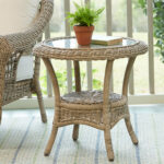 highland dunes riesel wicker side table reviews bombay outdoors pineapple umbrella accent dining cover plastic beach themed lamps office cupboard best drum throne with backrest 150x150