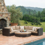 highland piece deep seating set woven accent table pillows are filled with eco friendly poly fiber and covered the latest sunbrella fabric for indoor design comfort outdoor 150x150