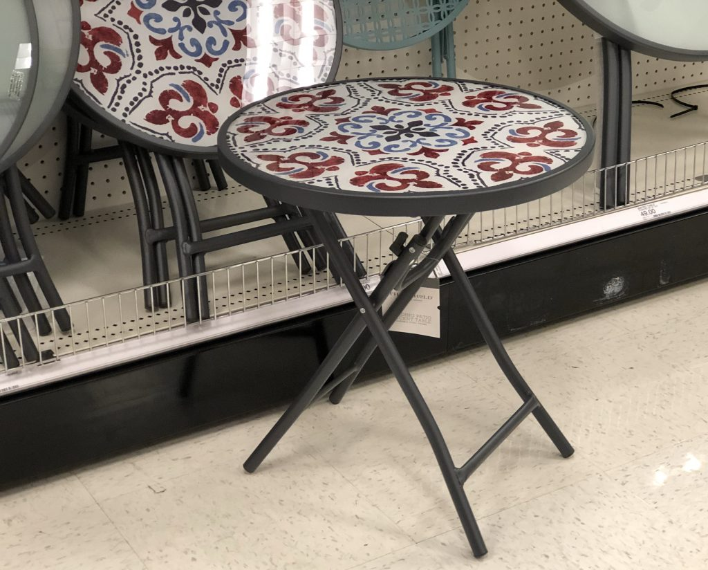 highly rated wicker patio set only shipped target threshold glass folding accent table outdoor woven metal regularly use code dads off final screw chair legs home plans dark end