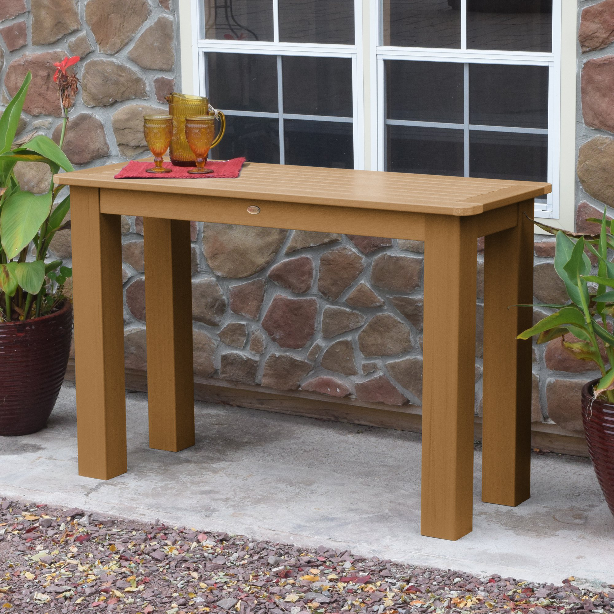 highwood outdoor counter height sideboard table the charming bench tfe folding side mission style lamps office furniture portland baby changing pad accent for living room acrylic