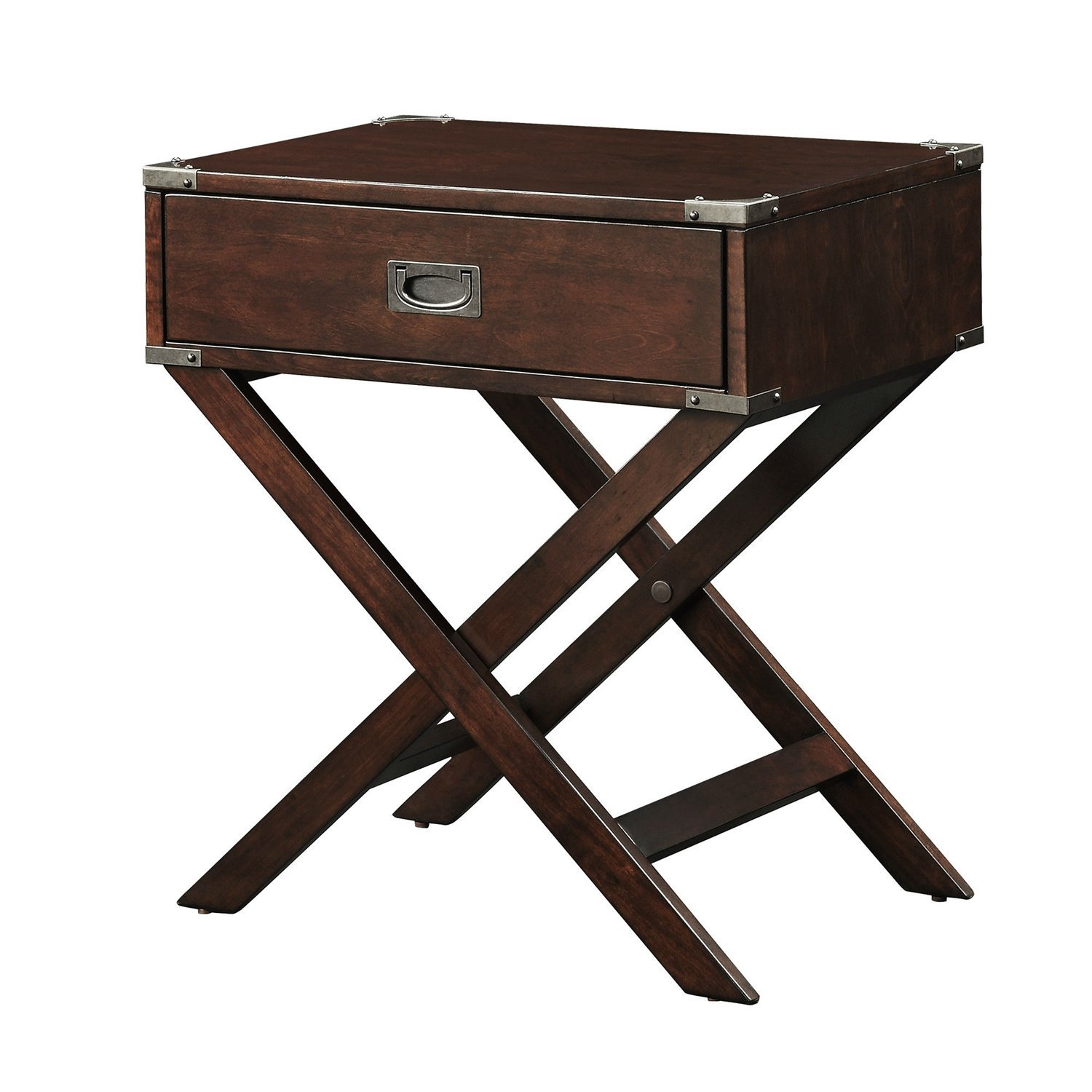 hilton furnitures ese accent table espresso brown wood drawer end nightstand with legs mcguire furniture cool light fixtures contemporary white lamps tall foyer kitchenette and