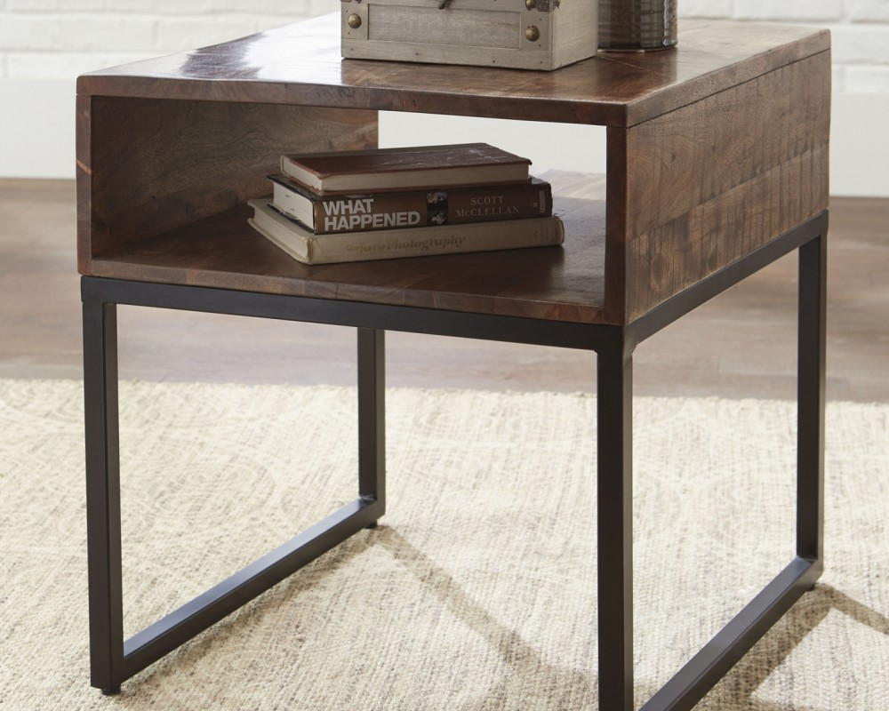 hirvanton warm brown rectangular end table tables wood anton accent small inexpensive chairs dark farmhouse antique marble top rust colored placemats pottery barn pedestal side
