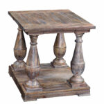 hitchcock rectangular end table smoked barnwood finish accent rustic tables diy patio furniture las vegas desk luxury tablecloths century coffee entry decor ideas storage with 150x150