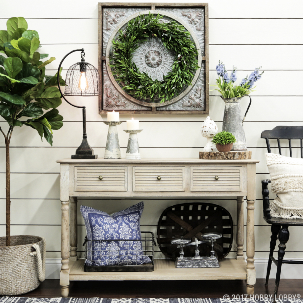 hobby lobby accent tables intended for the house inspiring home how create farmhouse look with regard patio dining chairs clearance alexa smart devices long narrow sofa table