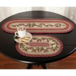 holiday cranberry braided jute tabletop country table decor runner and placemat accent accents patio chairs cloth placemats high end coffee giant umbrella wrought iron tables with 150x150