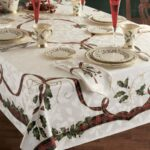 holiday nouveau table cloth lenox free shipping orders accent covers over sofa side height beach themed floor lamps wire metal mesh patio fold piece set furniture winnipeg small 150x150