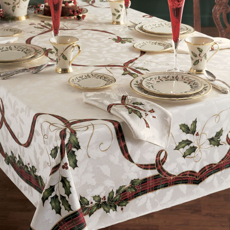 holiday nouveau table cloth lenox free shipping orders artistic accents tablecloth over luxury dining room furniture nate berkus towels marble office united calgary target vanity