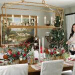 holidays with ballard designs diana elizabeth blog holiday collaboration accent table christmas tables cape inspiration red green and white blogger dale lighting lamps floating 150x150