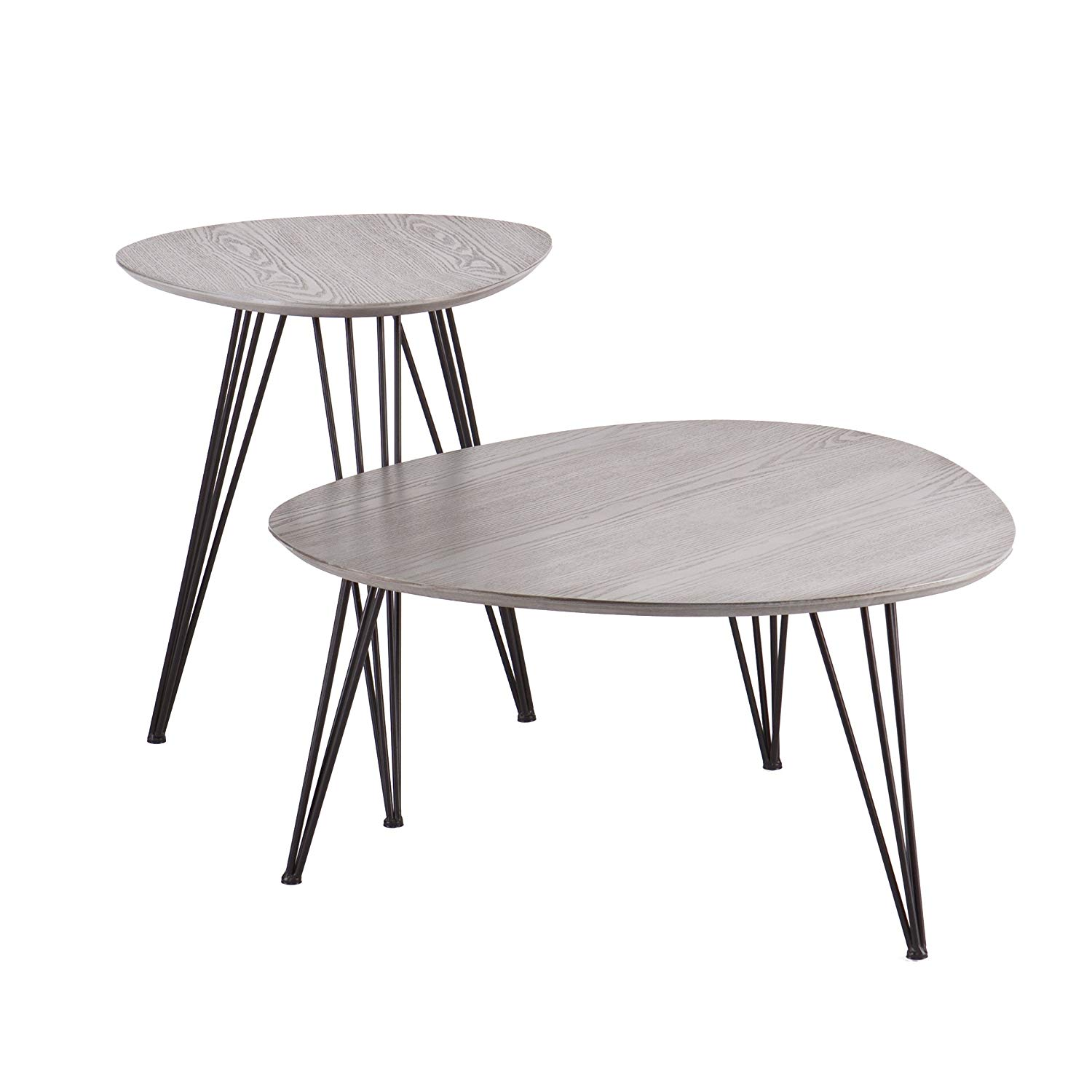 holly martin bannock accent table set matte gray room essentials hairpin with black finish kitchen dining west elm mallard lamp white and wood end retro furniture folding garden