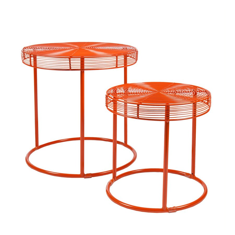 holly martin eontic orange metal accent table set furniture room dividers tablet usb uttermost chairs unique dining drum throne for guitar best lamps antique oval end glass white