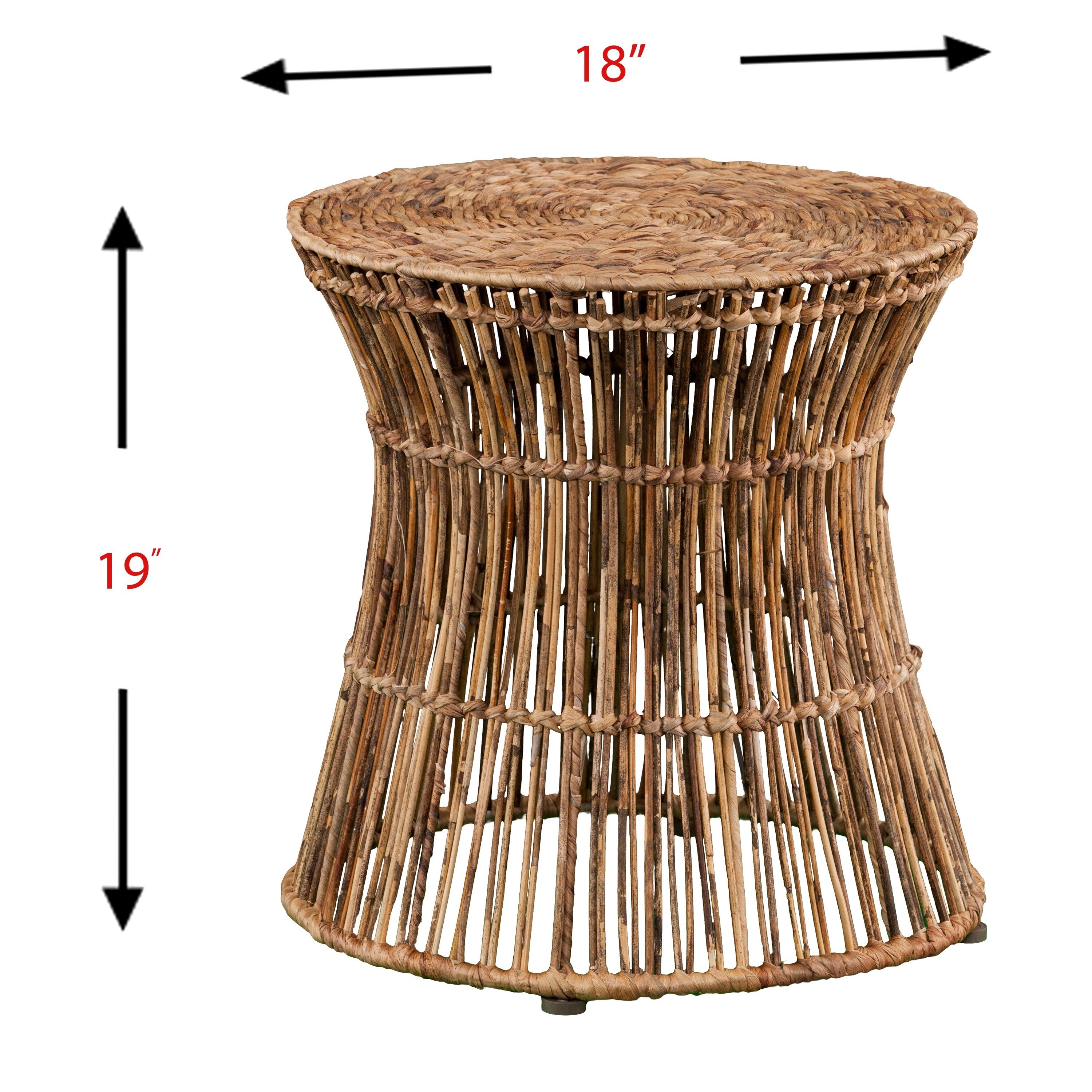 holly martin ocala hyacinth accent table stool round cardboard free shipping today ashley furniture cocktail tables tall nightstand lamps berg clearance bedding stone top coffee