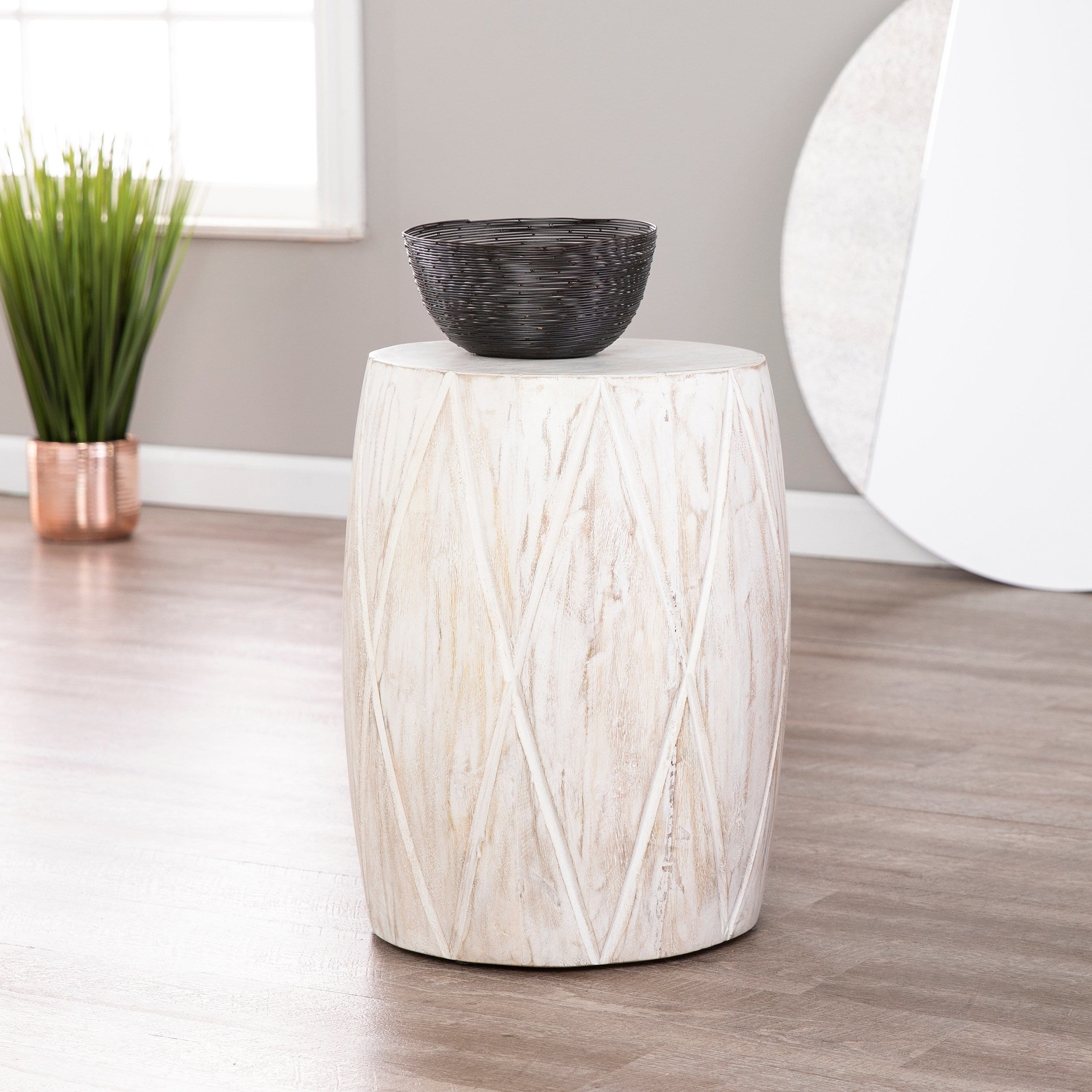 holly martin saco solid wood accent table stool furniture free shipping today marble top kitchen set lazy susan small crystal lamp iron nesting tables chairside mirrored coffee