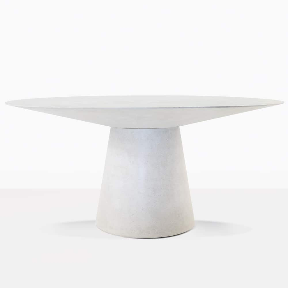 holly outdoor concrete dining table grey teak stone accent mid century modern room furniture pier desk tables for living farm style with bench inch legs small metal outside soccer