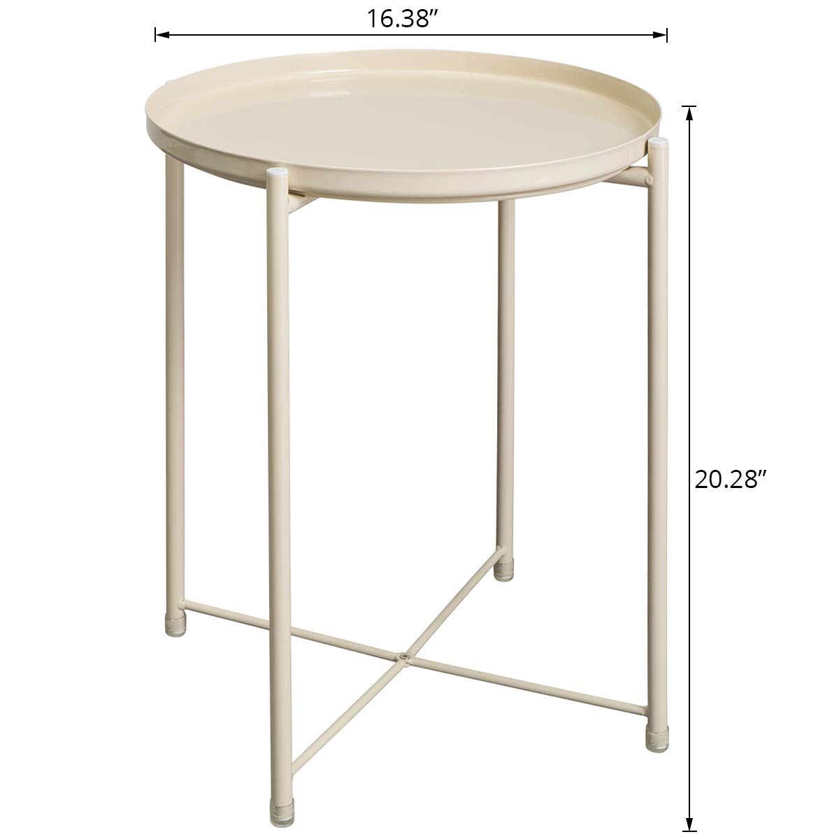 hollyhome folding tray metal end table sofa small bdl accent round side tables anti rust and waterproof outdoor indoor snack coffee french chairs inch console target white lamp