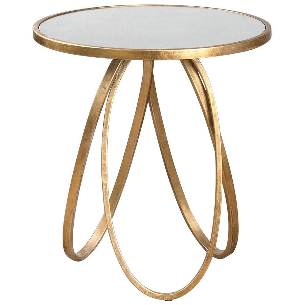 hollywood regency antique mirror gold oval ring end table product mirrored glass accent kathy kuo home weber side dryers half moon kitchen patio umbrella tall narrow lamp modern
