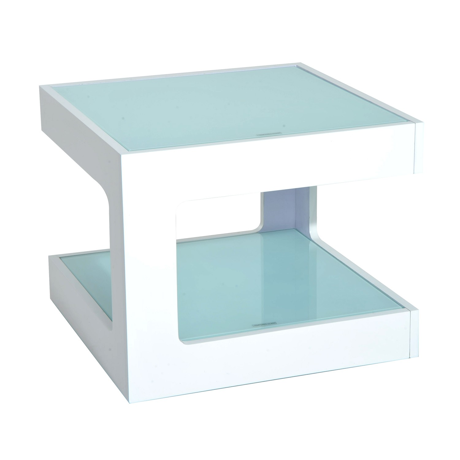 homcom modern glass top cube end accent table tables iron teal home goods touch lamps target tread plates wooden door thresholds pub dining set ashley furniture round coffee with
