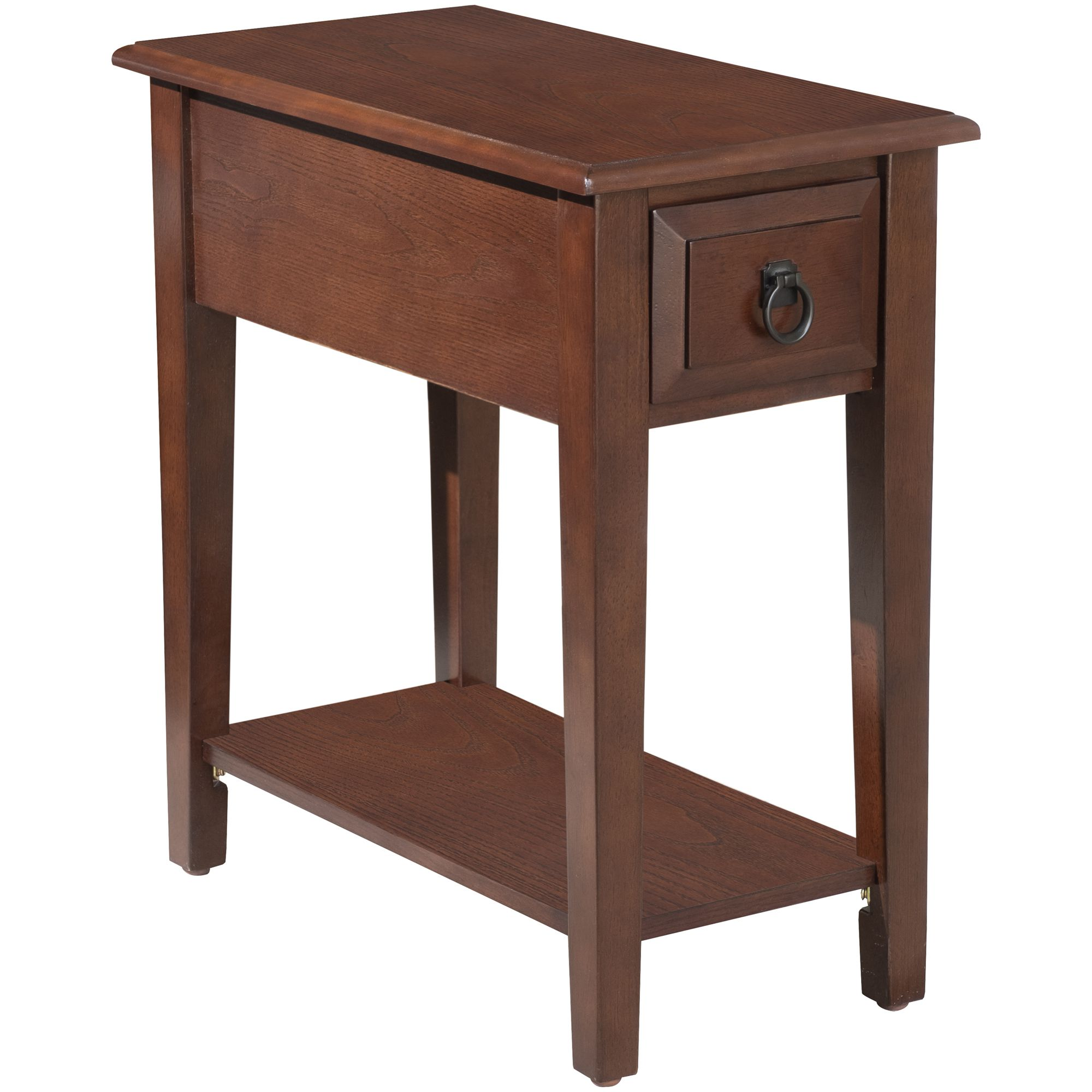 homcom modern tier acacia wood end table side desk with drawer accent dark coffee aosom brass finish dining room sofa nautical chair coastal themed chandeliers bunnings umbrella