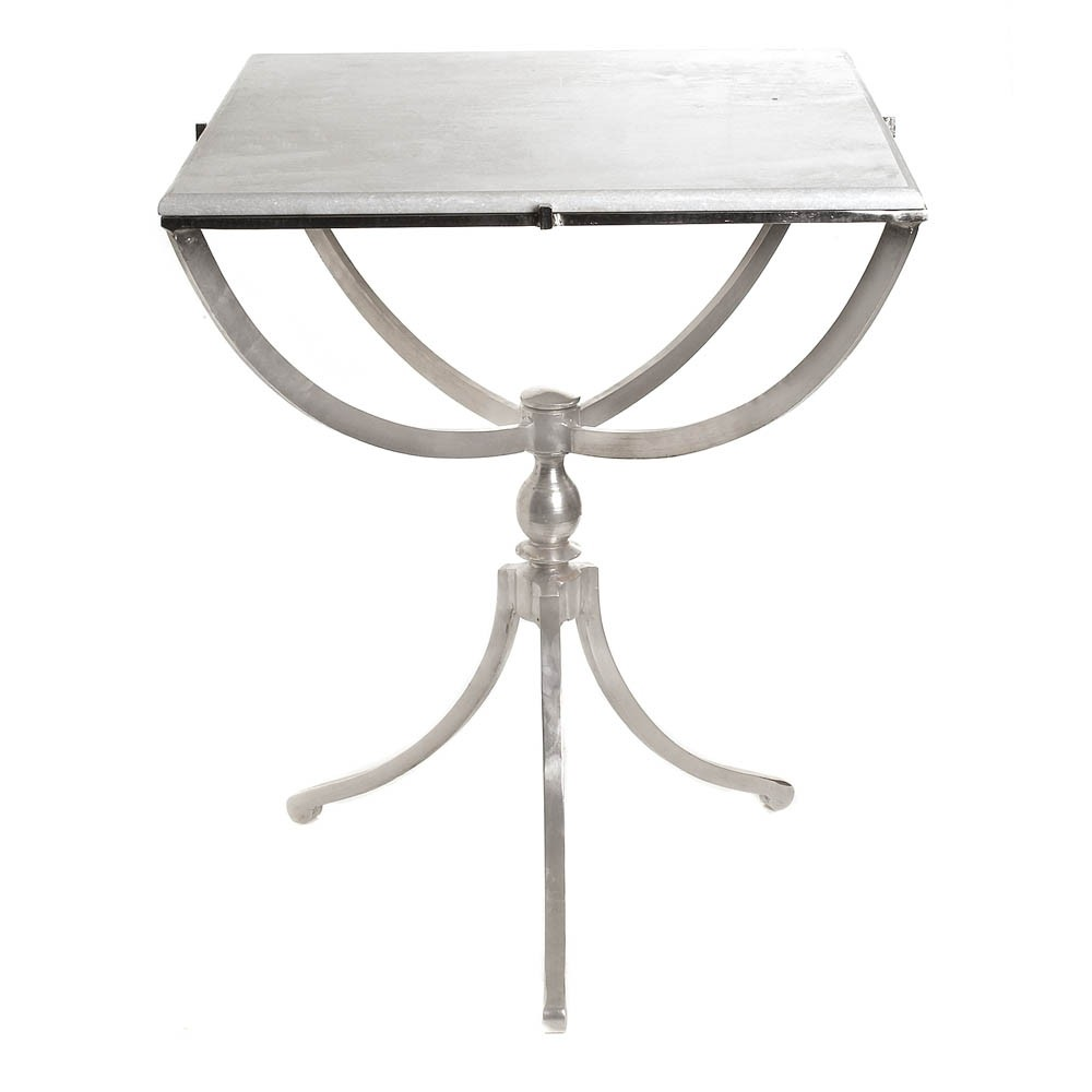 home art deco nickel table square decor interiors accent quickship high end lighting dining room runners chrome chandelier coloured glass coffee marble metal small top pub set